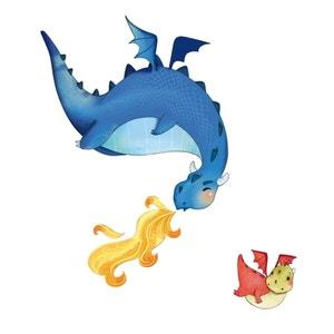 Sticker enfant Les dragons ACTE DECO