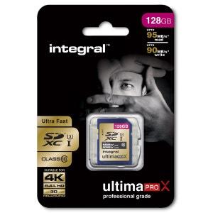 Cartes memoire  SDXC 128 GO CL 10 95/90 INTEGRAL