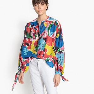 Blusa de manga larga, cuello redondo, estampado floral La Redoute Collections