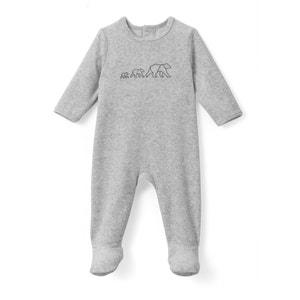 Piżama z weluru, z nadrukiem, 0 mies. - 3 lata La Redoute Collections