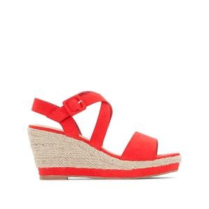 Wedge Sandals with Rope Heel, Wide Fit CASTALUNA