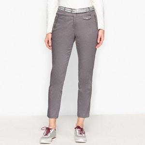 Pantalon raccourci, satin de coton stretch ANNE WEYBURN