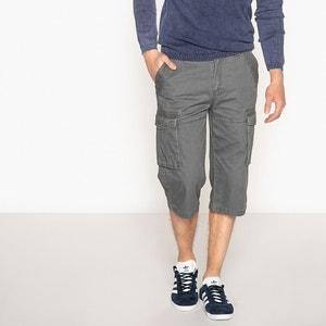 Calças curtas estilo militar, corte regular, puro algodão La Redoute Collections