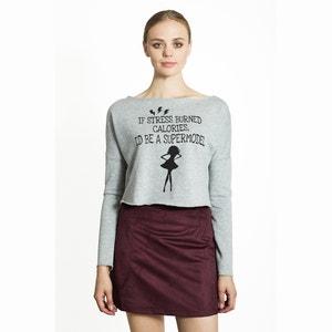 Printed Cropped Sweatshirt MIGLE+ME