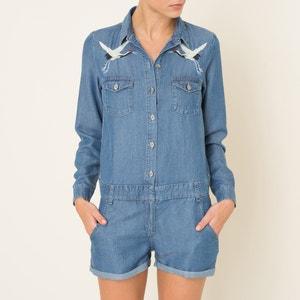 Kurzoverall aus Jeans-Tencel THE KOOPLES