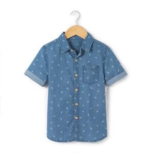 Koszula z krótkim rękawem z materiału z nadrukiem 3-12 lat abcd'R