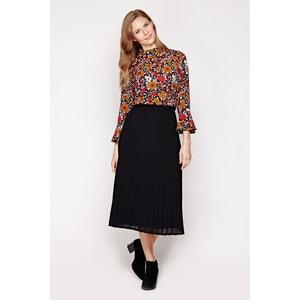 Pleated Knee-Length Skirt YUMI