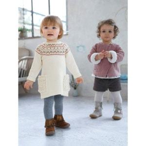 Robe tricot bébé motif jacquard VERTBAUDET