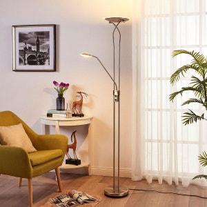 Lampadaire à éclairage indirect LED Selina liseuse LAMPENWELT
