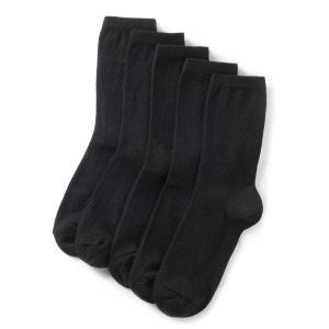 Mi-chaussettes unies (lot de 5) La Redoute Collections