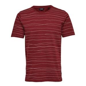 T-shirt met ronde hals en strepenprint ONLY & SONS