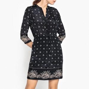 Kurzärmeliges Kleid mit Bindeband in der Taille STELLA FOREST