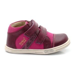 Zapatillas deportivas de caña alta bicolor, piel y nobuck Trala, piezas autoadherentes KICKERS