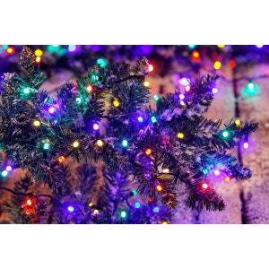 Guirlande multicolore Spécial extérieur - 200 LED - A positionner sur 20m - 8 jeux de lumière ! NONAME