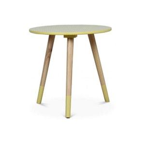 Table Basse Style Scandinave Jaune D40xH40 TEODOR DECLIKDECO