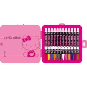 HELLO KITTY Trousse boite 12 crayons de couleurs HELLO KITTY