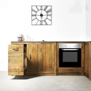 Meuble cuisine 1 porte, 1 étagère, 1 tiroir coulissant épices - Champetre  |  OP1120 MADE IN MEUBLES