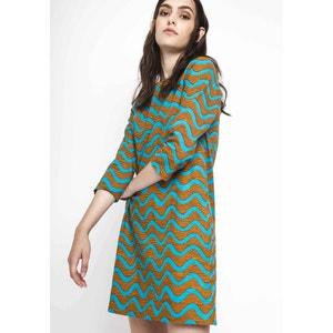 Mini Dress with 3/4 Length Sleeves COMPANIA FANTASTICA