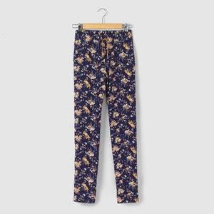 Pantaloni fluidi fantasia floreale 10-16 anni R pop