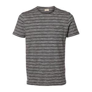 T-shirt scollo rotondo in cotone SELECTED