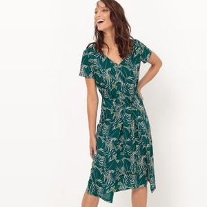 Vestido para atar, estampado tropical atelier R