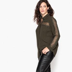 Lace Panelled Shirt CASTALUNA