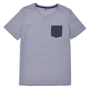 T-shirt w paski, okrągły dekolt La Redoute Collections