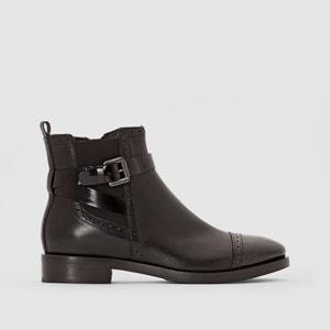 Boots en cuir à bride BROGUE GEOX