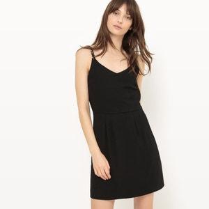 Effen korte jurk met smalle bandjes ONLY