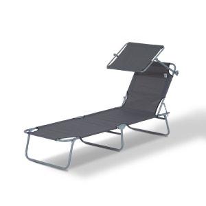 Chaise longue transat la redoute for Transat bain de soleil pliable