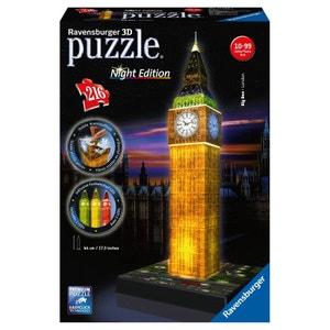 Puzzle 3D Big Ben Night Edition 216 pièces - RAV4005556125883 - RAV12588 RAVENSBURGER
