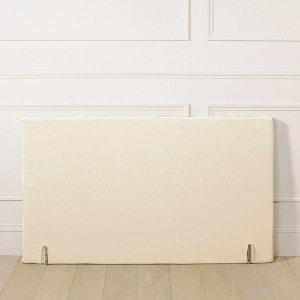 Housse tete de lit en lin blanc la redoute for Housse tete de lit la redoute