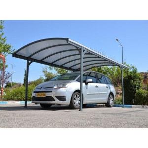 Carport métal 1 voiture DELAGE Gris - 14.50 m² CHALET ET JARDIN