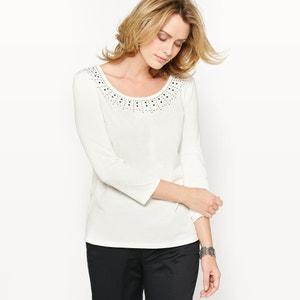 T-shirt, bawełna i modal ANNE WEYBURN