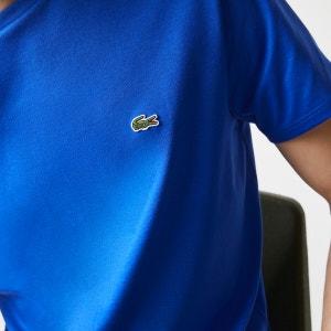 Camiseta de punto de algodón, con cuello redondo