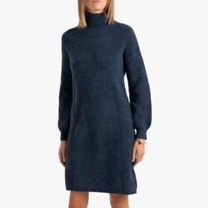 Korte trui-jurk met rolkraag