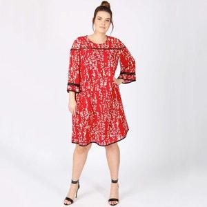 Halflange wijd uitlopende jurk met print KOKO BY KOKO