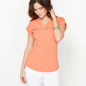 T-shirt puro algodão efeito mesclado ANNE WEYBURN