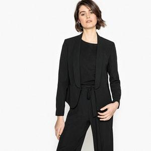 Giacca leggera sciancrata stile blazer maxi collo a scialle La Redoute Collections