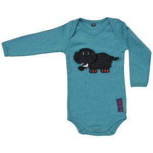 Body bébé coton bleu éléphant brodé RIKIKI KIDS