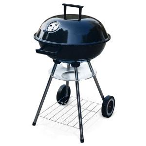 Barbecue charbon de bois Fernand Ø43cm noir, fumoir boule, cendrier ALICE S GARDEN