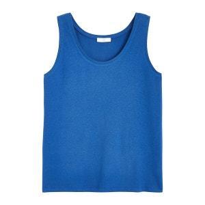 Camiseta de tirantes de mezcla de lino