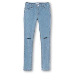 Jeans skinny efeito rasgado, 10-16 anos R pop