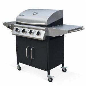 Barbecue au gaz Albert cuisine extérieure 4 brûleurs + feu latéral avec thermomètre ALICE S GARDEN