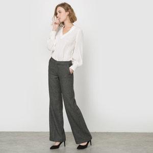 Szerokie spodnie w jodełkę, domieszka wełny R essentiel