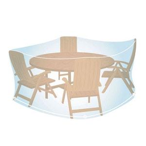 Housse de protection transparente pour salon de jardin rond Ø 150 cm CAMPINGAZ