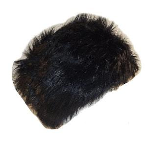 Toque en fausse fourrure noire CHAPEAU-TENDANCE