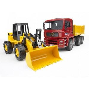 Camion benne MAN TGA et chargeur articulé FR130 BRUDER
