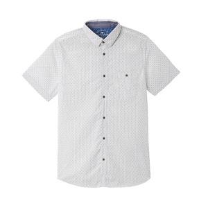 Prosta wzorzysta koszula z krótkim rękawem TOM TAILOR