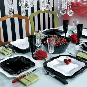Service de vaisselle 19 pièces Authentic Black & White LUMINARC